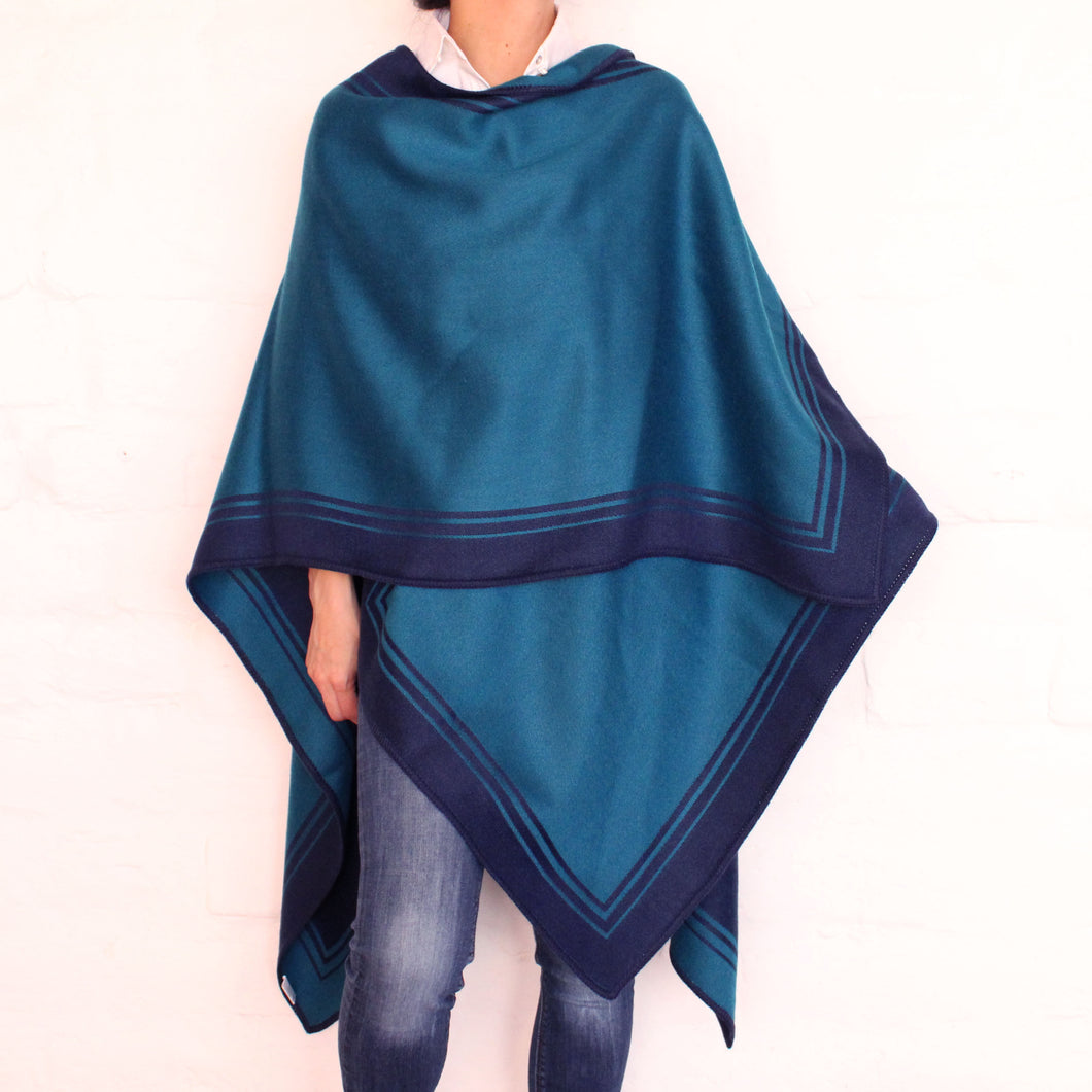 Turquoise and Blue Cape
