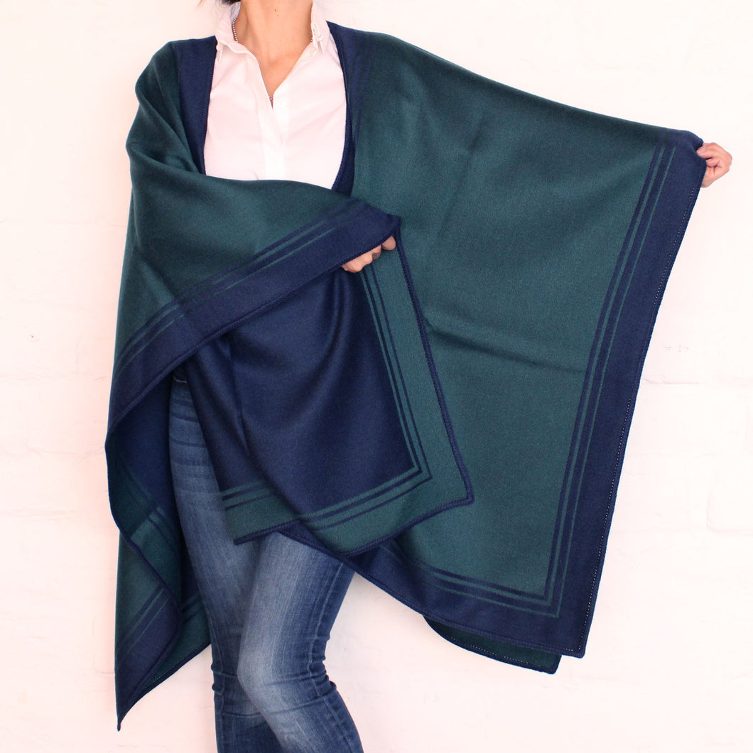 Green and Blue Cape