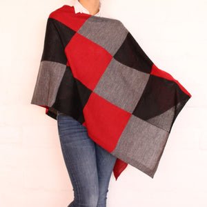 Red Chess poncho