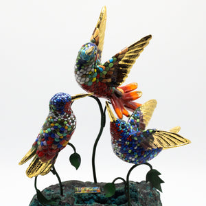 Hummingbirds on Turquoise stone