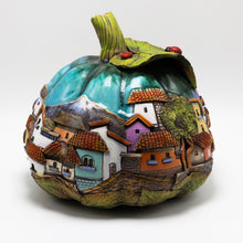 Load image into Gallery viewer, Turquoise Pumpkin Sculpture (large)