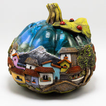 Load image into Gallery viewer, Blue Pumpkin Sculpture (large)