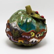 Load image into Gallery viewer, Green Pumpkin Sculpture 16 (medium)