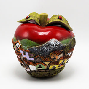 Red Apple Sculpture (medium)