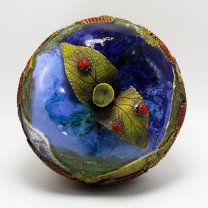 Blue Apple Sculpture (medium)