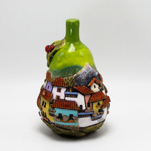 Load image into Gallery viewer, Green Pear Sculpture (small)