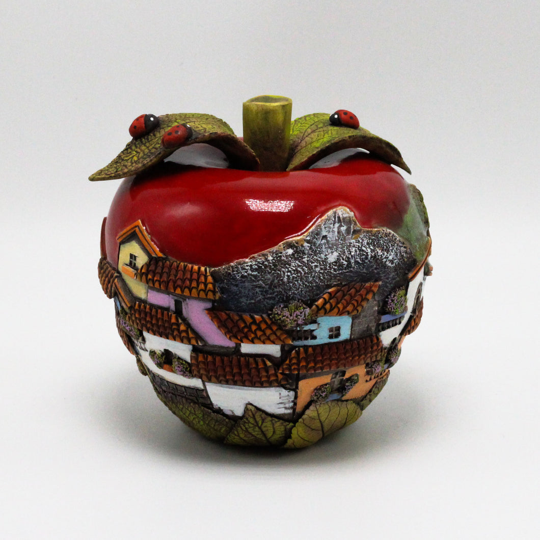Red Apple Sculpture (small)