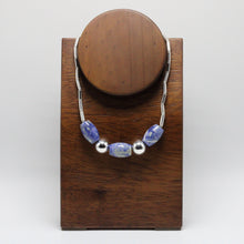 Load image into Gallery viewer, Silver and  Andean Sodalite Necklace 2