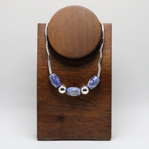 Silver and  Andean Sodalite Necklace 2