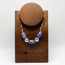 Load image into Gallery viewer, Silver and  Andean Sodalite Necklace 3