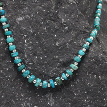 Load image into Gallery viewer, Silver and Andean Turquoise  Necklace 22