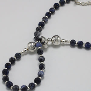 Silver and Sodalite Necklace 23