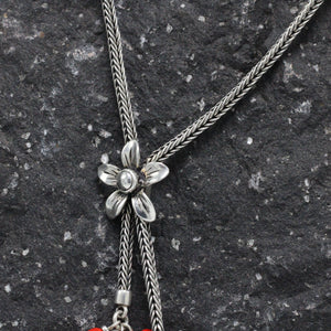 Silver and Huayruro Amazon Seed Necklace 29