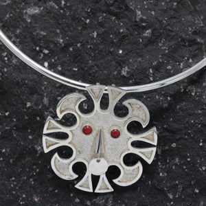 Silver and Garnet Necklace33