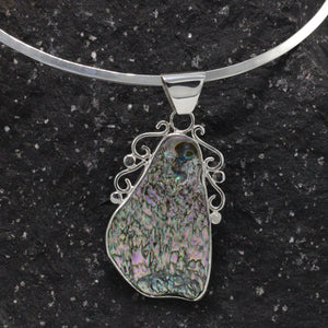 Silver and Abalone shell Necklace 42