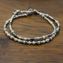 Load image into Gallery viewer, Silver and River Pearls 2 Bracelets set 9