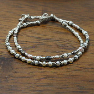 Silver and River Pearls 2 Bracelets set 9