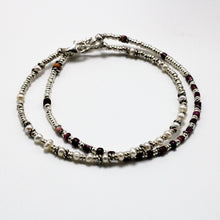 Load image into Gallery viewer, Silver, Spondylus and River Pearls 2 Bracelets set 11