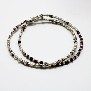 Silver, Spondylus and River Pearls 2 Bracelets set 11