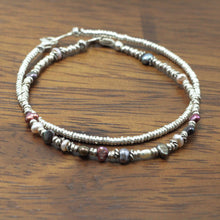 Load image into Gallery viewer, Silver and River Pearls 2 Bracelets set 12