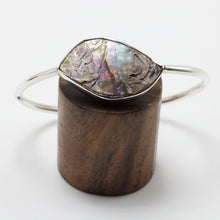 Load image into Gallery viewer, Silver and Abalone Shell Bracelet 35