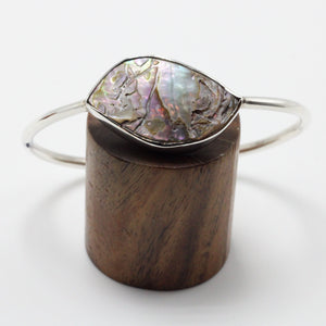 Silver and Abalone Shell Bracelet 35