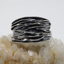 Load image into Gallery viewer, Burned Silver Bracelet  4