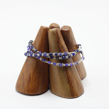 Load image into Gallery viewer, Silver and Sodalite 3 Bracelets  set 7