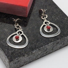 Load image into Gallery viewer, Garnet Hanging Earring 8