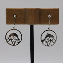 Load image into Gallery viewer, Dolphin Silver Earrings 15