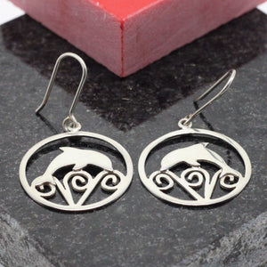 Dolphin Silver Earrings 15