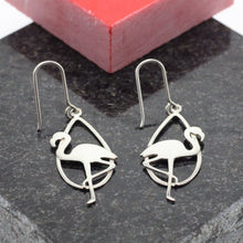 Load image into Gallery viewer, Flamingo Silver Earrings 16