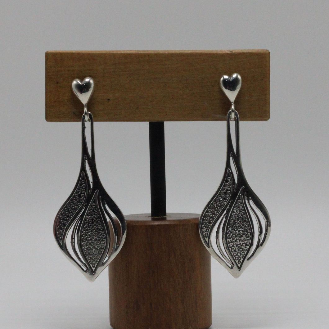 Silver Leafs Earrings 18