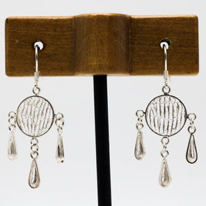 Three Drops Silver Earrings 30