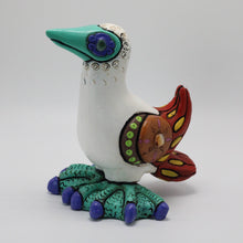 Load image into Gallery viewer, Ceramic Modeled Small Blue Footed Booby 15