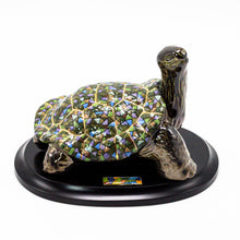 Load image into Gallery viewer, Ceramic Tortoise on Wood Base