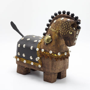 Brown and Black Wooden Horse