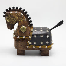 Load image into Gallery viewer, Brown and Black Wooden Horse