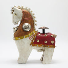 Load image into Gallery viewer, White Horse with Red Saddle