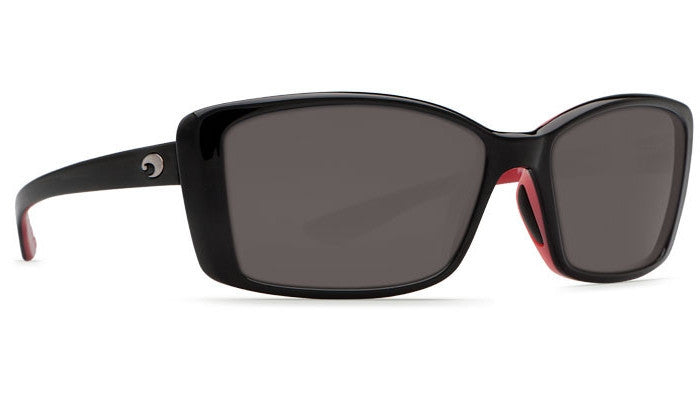 Costa Del Mar Pluma Black Sunglasses w/ 580P Gray Lens