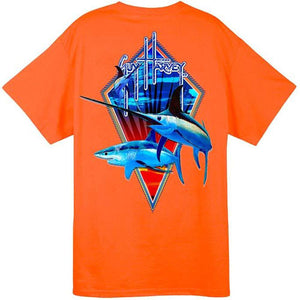 Guy Harvey Fight Club Short Sleeve Back-Print Pocketed Men's Tee
