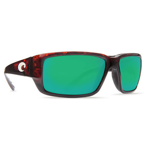 Costa Del Mar Fantail Tortoise w/580G Green Mirror Lens.