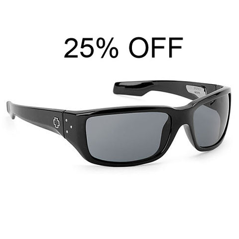 Spy Colt Sunglasses Black w/Grey Polarized Lens.