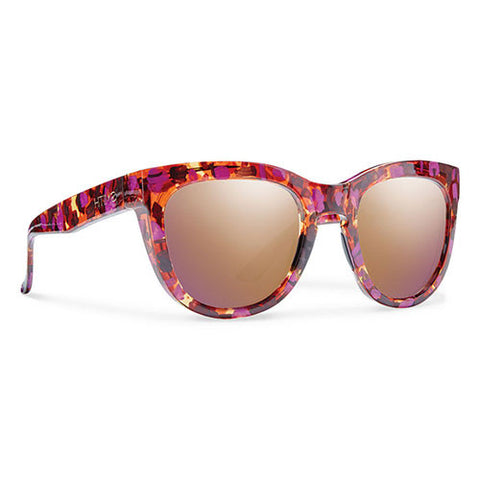 Smith Sidney-Flecked Mulberry Tortoise w/Rose Gold Mirror Lens