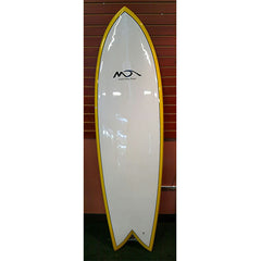 "Michael Dolsey E Fish 6'4"" White w/Yellow Rail"