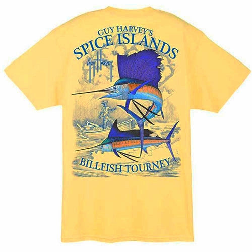 Guy Harvey Yellow Spice Islands T-shirt