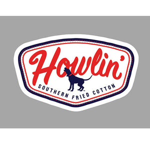 Southern Fried Cotton HOWLIN PATCH DECAL