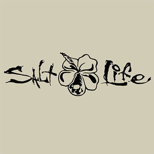 Salt Life Signature Hibiscus Medium Decal