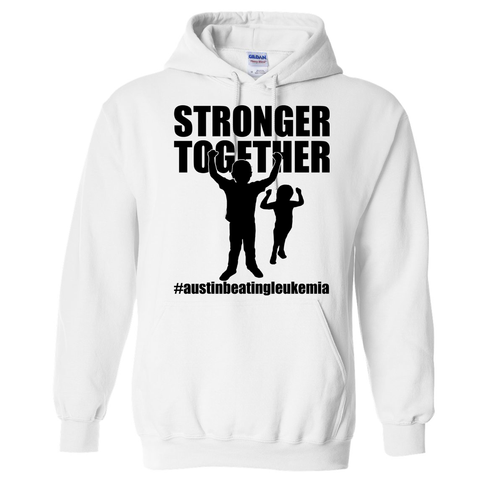 Stronger Together - Austin Beating Leukemia Unisex Adults - Kids Hooded Sweatshirt