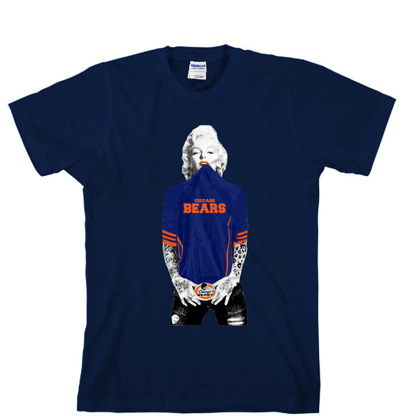 Marilyn Monroe Chicago Bears Unisex T-shirt Sports Clothing